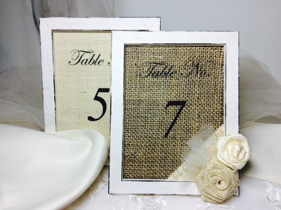 Table Number Frames Wedding Table Numbers Vintage Style Table