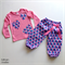 Size 1 Girl's Pink and Purple Scallop Lounge Pants Set