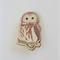 Owl Wooden Brooch Pin
