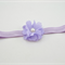 Purple Flower Headband - size 6 months to 3 yrs