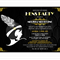 Gatsby Hens Party - printable invitation - with personalised details.