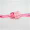 Flower Headband - pink flowers and polka dots