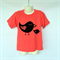 Girls Pink Little Bird T-shirt - Sizes 0 to 4 - screen printed, handmade