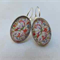 Floral Vintage Glass Earrings -silver or bronze