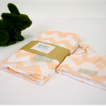 Baby Swaddle, Wrap, blanket. Peach Chevron. Unisex