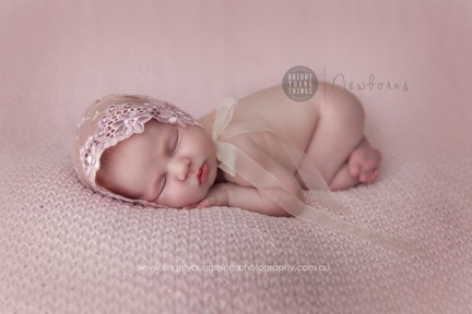Newborn lace bonnet newborn photography prop dusky pink lace tulle bonnet