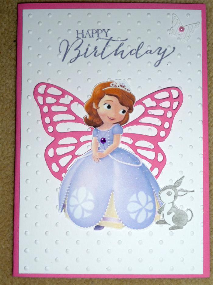 Birthday Princess Sofia The First Handmade Card Stacey C Handmade