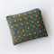 Grey purse with screen printed blue, green, red and yellow dots