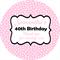 Personalised star stars 21st twenty first milestone special birthday stickers