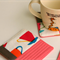 Fabric Coasters, Metro Cafe Cloth Coasters - Set of 4 - Mother's Day Gift