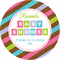 Personalised baby shower blocks DIY stripes striped favours favour