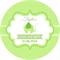 Personalised unisex mint green baby shower elephant elephants stickers favours
