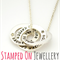 Small Entwined Pendant and Chain - Sterling Silver Handstamped Jewellery
