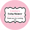 Personalised modern simple any occasion polka dot dots stickers sticker favours