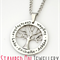 Family Tree Pendant with Chain - Stainless Steel Handstamped Jewellery