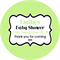 Personalised unisex simple any occasion polka dot dots stickers sticker favours