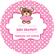 Personalised baby shower little pink teddy bear bears favours