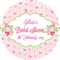 Personalised shabby chic bridal shower floral flower stickers favours