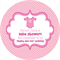 Personalised baby shower little pink romper suit favours label labels