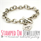 Toggle Bracelet with Heart Charm - Stainless Steel Handstamped Jewellery