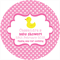 Personalised baby shower polka dot dots DIY duck favours label labels