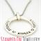 Elegant Loop Pendant and Chain - Sterling Silver Handstamped Jewellery