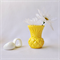 RESIN VASE - handmade petite bud vase in yellow resin - ON SALE