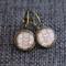 Warm Chevron ~  Lever Back Earrings