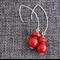 Red Coral Drop Earrings