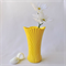 WALKING ON SUNSHINE - handmade resin vase hand cast in a gorgeous sunny yellow