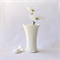 RESIN VASE IN CHALK - handmade vase in chalk white resin
