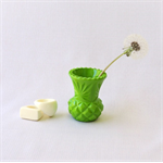 RESIN BUD VASE - handmade vase in lime green resin