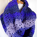 Infinity Scarf Snood shades of purple