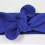 Baby Turban Headband, stretch, royal blue, baby knot headband,baby headband