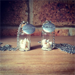 Mini Glass Bottle Pendant