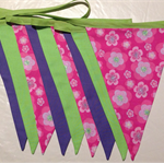 Flower Bunting Flags