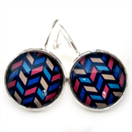 LEVER BACK EARRINGS- Multicolour chevron