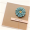 Just For You card blue burlap bloom birthday Mother's Day Thank You Get Well