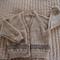 SIZE 2-3 yrs -cardigan in camel & dark brown: Acrylic , Washable