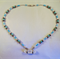 Beaded Necklace with Crystal Focal