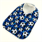 Cute Baby Bib - Soccer Ball Cotton Fabric, Bamboo Toweling, Snap Fastened.