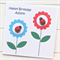 PERSONALISED birthday card happy birthday ladybugs and flowers