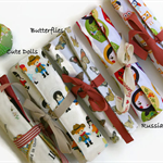 Girls Pencil Rolls - Choose Your Own Fabric - Pencil Roll Includes Pencils