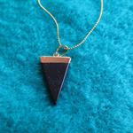 Blue Sand Triangle Pendant