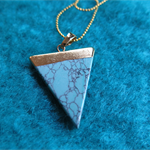 Synthetic Turquoise Triangle Pendant
