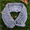 Silver grey collar sequined scarf buttoned collars neck warmers scarflette