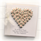 Personalised Engagement card keepsake gift boxed ivory pink paper roses heart