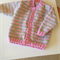 Pure wool baby cardigan in stripes