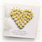 Personalised Engagement card keepsake gift boxed yellow white paper roses heart