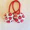 Ladybird fabric button hairties